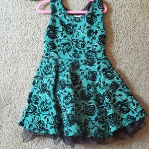 Knitworks Dresses - Green and black toddler girls holiday dress w/card